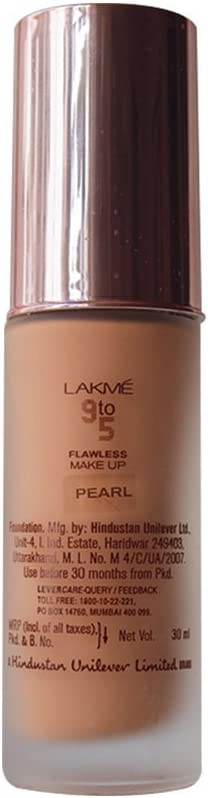 Lakme 9 a 5 Fundación defectos del maquillaje - Perla - 30ml ...