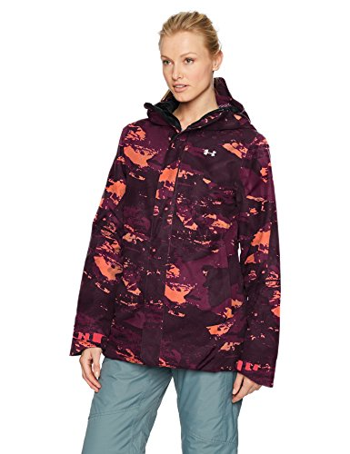 Under Armour Outerwear Women's Cold Gear Infrared Power Line Insulated Jacket, Black Currant/White, X-Small