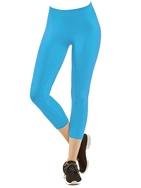 7656d390a8d Gravity Threads Nylon Spandex Seamless Womens Capri Leggings
