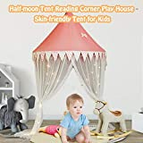 Dailyfun Princess Canopy with Gauze Curtain, Reading Corner Play House Skin-Friendly Tent, Bed Canopy Tent for Toddler Bed with Mosquito Net Curtain - Natural Cotton Dome Reading Tent for Outgoing