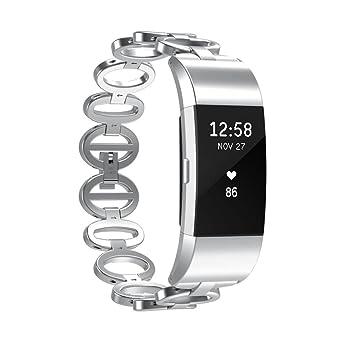 Y56 - Élégant Bracelet de rechange pour montre connectée Fitbit Charge 2, bracelet de montre