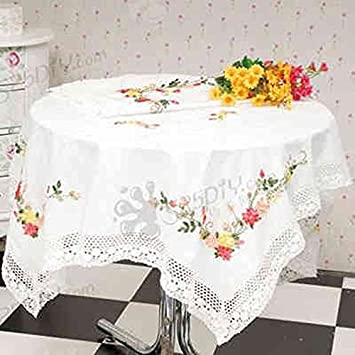 Borde a mantel Pastoral impresión mantel de punto de cruz sala de estar restaurante impermeable y sin Aceite Wash anti-hot moderno mantel: Amazon.es: Hogar