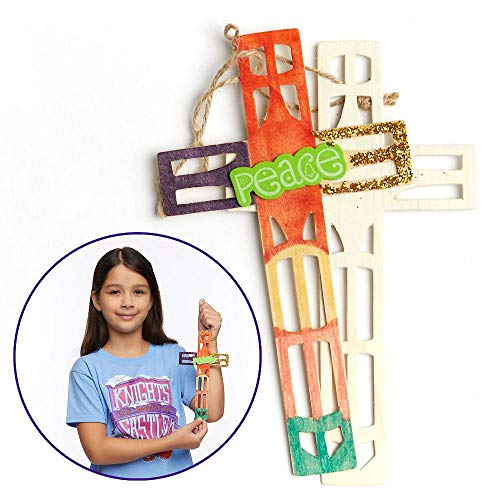 Vacation Bible School (VBS) 2020 Knights of North Castle Artistic Cut Wood Cross (Pkg of 12): Quest for the King's Armor