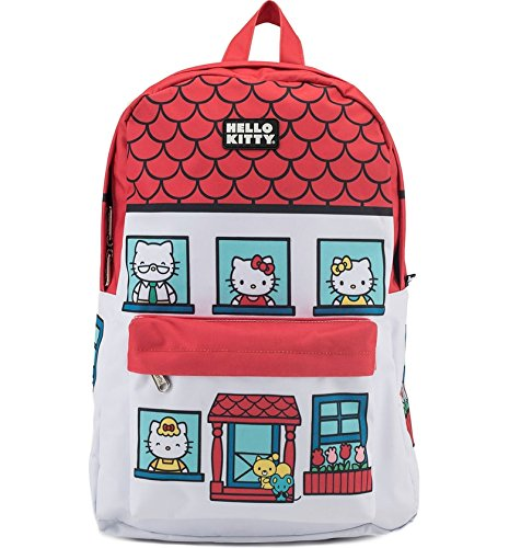 Loungefly x Hello Kitty House Nylon Backpack (One Size, Multi)