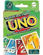 Mattel Games GTH23, UNO Sustainable, Gemaakt van 100 procent papier, kaartspel voor gezin, met 112 kaarten, voor spelers vanaf 7 jaar, groen cadeau voor spelletjesavonden voor alle leeftijden