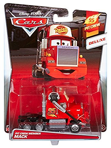 Pixar Disney Cars Pit - Disney/Pixar Cars, 95 Pit Crew 2015 Series, Pit Crew Member Mack [With Headset] Deluxe Die-Cast Vehicle #7/8, 1:55 Scale