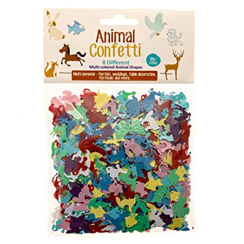 Animal Shaped Confetti By Confetti Kings | Multicolored | In 8 Different Animal Shapes | Great For Parties, Arts & Crafts, Festivals | 1.75oz/50g (Confetti Shapes)