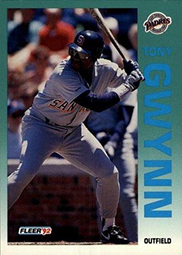 Tony Gwynn baseball card (San Diego Padres) 1992 Fleer #605