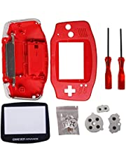 Timorn Full Parts Replacement Housing Shell Pack for Game Boy Advance (Red)
