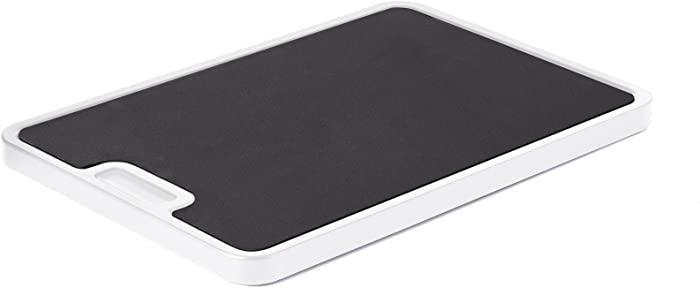 Nifty Medium Appliance Rolling Tray - White, Home Kitchen Counter Organizer, Integrated Rolling System, Non-Slip Pad Top for Coffee Maker, Stand Mixer, Blender, Toaster