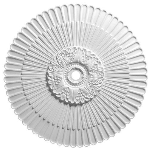 (Focal Point 36 Inch Diameter Ceiling Medallion 80236 Antiquity Sunburst Primed White Polyurethane)