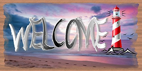 [Welcome Lighthouse Sign - Welcome Plaque] (Lighthouse Welcome Plaque)