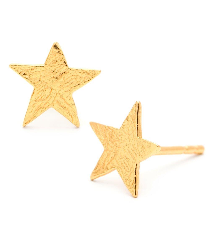 Gorjana Gold Small Star Stud Earrings for Women, 18k