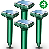 Apello 4 Pack Solar Mole Repellent Chipmunk Repellent Ultrasonic Outdoor Gopher Repellent Ultrasonic