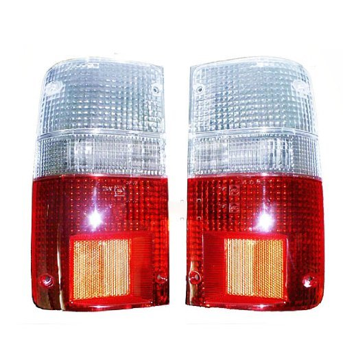 Toyota Hilux Pickup Truck 4x2 4x4 89 90 91 92 93 94 95 Tail Lights Lenses Clear Red Lens Pair