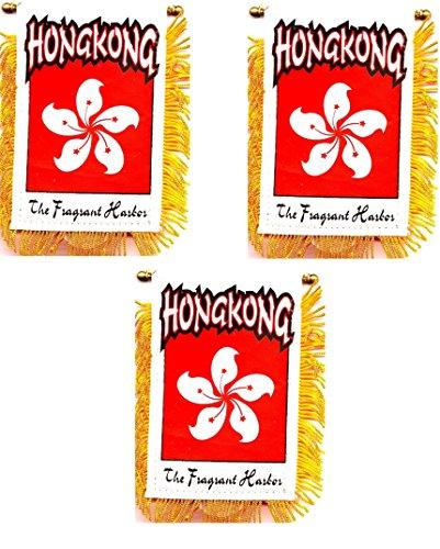 World Flags Direct Pack of 3!! Hong Kong 3 1/2