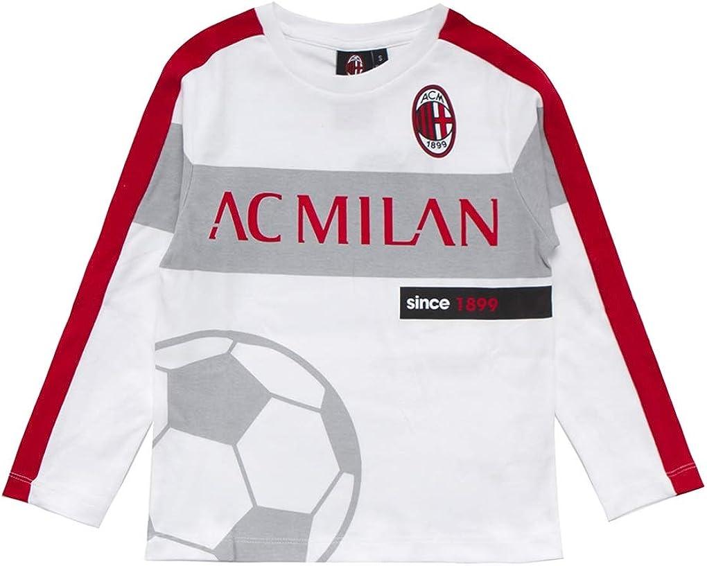 M040 AC Milan Maglia Manica Lunga in Caldo Cotone Prodotto Ufficiale Art