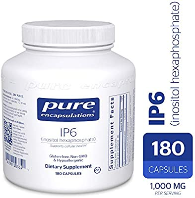 Pure Encapsulations - IP6 (Inositol Hexaphosphate) - Hypoallergenic  Antioxidant Support for Prostate, Breast, Colon and Liver Cell Health* -  180
