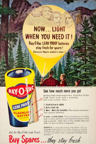 1949-ad-ray-o-vac-mount-rushmore-flashlight-battery-advertisement-madison-wi-original-print-ad