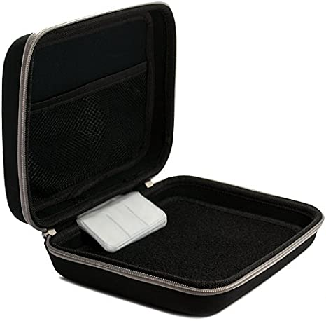 Harlin Carrying Case with a Nylon Protective Hard Shell for DCIGNA Binoculars by Vangoddy Black, Red