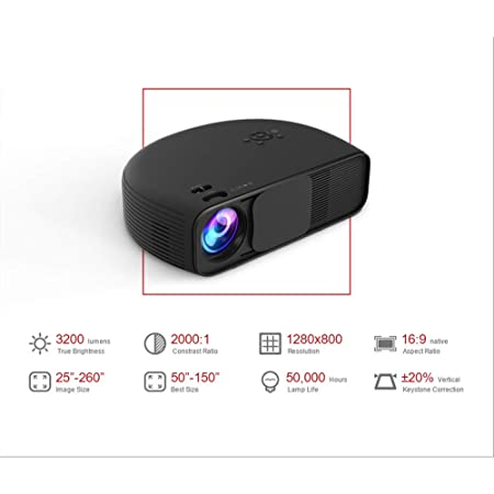 AI LIFE Proyector LED HD LCD 3200 Lumen 1080P Videojuegos TV ...