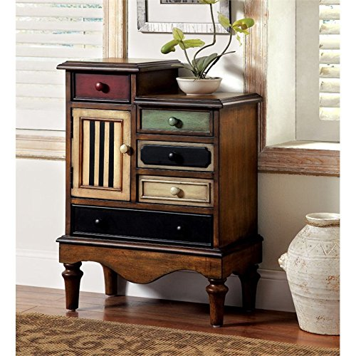 Furniture of America Circo Vintage Style Storage Chest, Antique Walnut - Classic Antique Style Chest