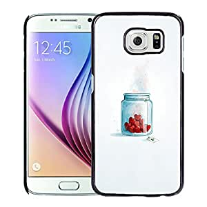 Unique Designed Cover Case For Samsung Galaxy S6 With Ai Love Is Posion Illust Minimal Art Phone Case