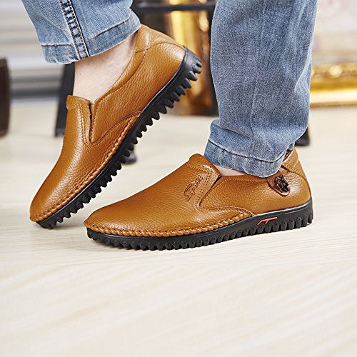 Hommes UK Baskets À CFP Conduite 8 Slip Mode Confortable Sur Loisir 5 Mocassins Orange Taille Party Cuir Bussiness 8821 Dress La UZXSXx5q