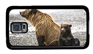 Sale Cheap price Samsung i9600 covers Animals family brown bears PC Black for Samsung S5,Samsung Galaxy S5,Samsung i9600