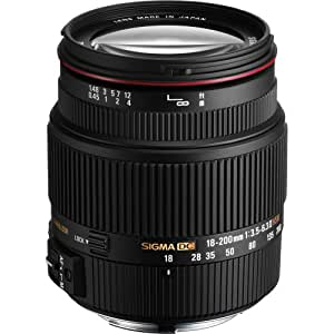 Sigma 18-200mm DC II OS HSM - Objetivo para Nikon (18-200mm, f/3.5-6.3, AF, estabilizador óptico), color negro