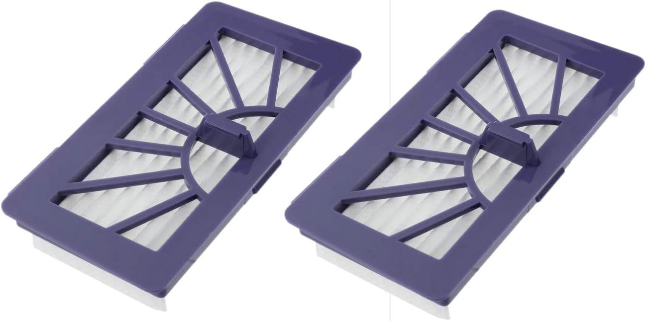 Confezione: 2 filtri adatti per Vorwerk Roboter VR 100 Nr XV-12 XV-15 VR100-4S-4F Neato XV 945-0005 XV Signature Pro XV-21 945-0006 XV Essential XV-11 XV-14 XV-25 XV Signature