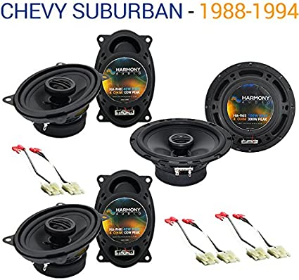 speaker wiring diagram 1994 suburban factory 6 speaker system amazon com compatible with chevy suburban 1988 1994 factory  chevy suburban 1988 1994 factory