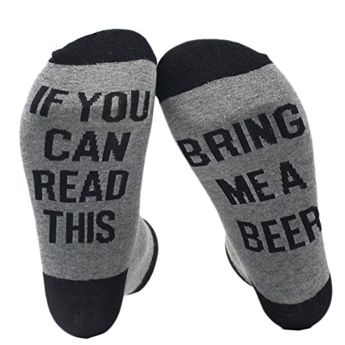 Wine Custom Socks If You can read this Me Bring a Wine Glass Sock Soft Simple by Fenta (A2BH, one size)