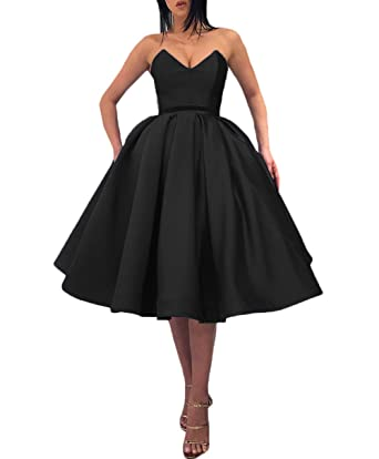 Ri Yun Womens Sexy Strapless Prom Dresses Short Formal Evening Gowns with Pockets Homecoming Dresses for