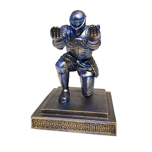 Ozzptuu Decorative Resin Executive Knight Pencil Holder Pen Stand Personalized Desk Organizer Accessories -
