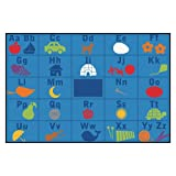 Carpets for Kids 72.93 Alphabet Seating Kid$ Value Plus Rug-6' x 9' 6' x 9' , 6' x 9' , Blue
