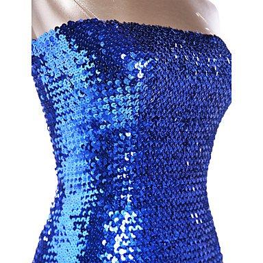 Lentejuelas de Oro Negro Poliéster Dancewear de Blue Noche Ropa Noche Azul Paramujer Vestidos Rojo Fucsia Organdí Ropa SILVER Plata Morado TwA6w