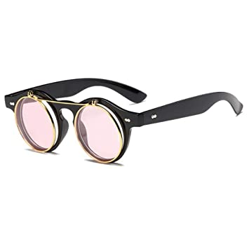 Amazon.com: Queenbox Steampunk - Gafas de sol retro redondas ...