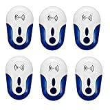 6PCS Pest Reject Stheanoo Ultrasonic Multifunction Insect Repeller Safe Radiation-free Pest Repeller Electronic Magnetic Repeller Anti Mosquito Insect Reject
