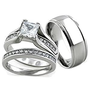 Amazon.com: Her & His 3pc Stainless Steel Wedding