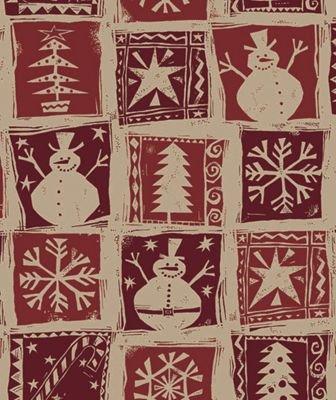 Homespun Christmas Kraft Gift Wrap, 24