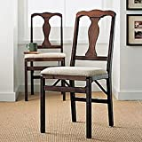 Queen Ann Folding Chairs, Set of Two For Sale