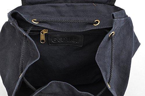 Gootium Unisex-Erwachsene Freizeit-Rucksack, Schwarz, 46 cm Schwarz