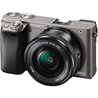 Sony Alpha a6000 Mirrorless Digital Camera 3 LCD, with 16-50mm Lens (Graphite) (ILCE-6000L/H) (Internal Model No Warranty)