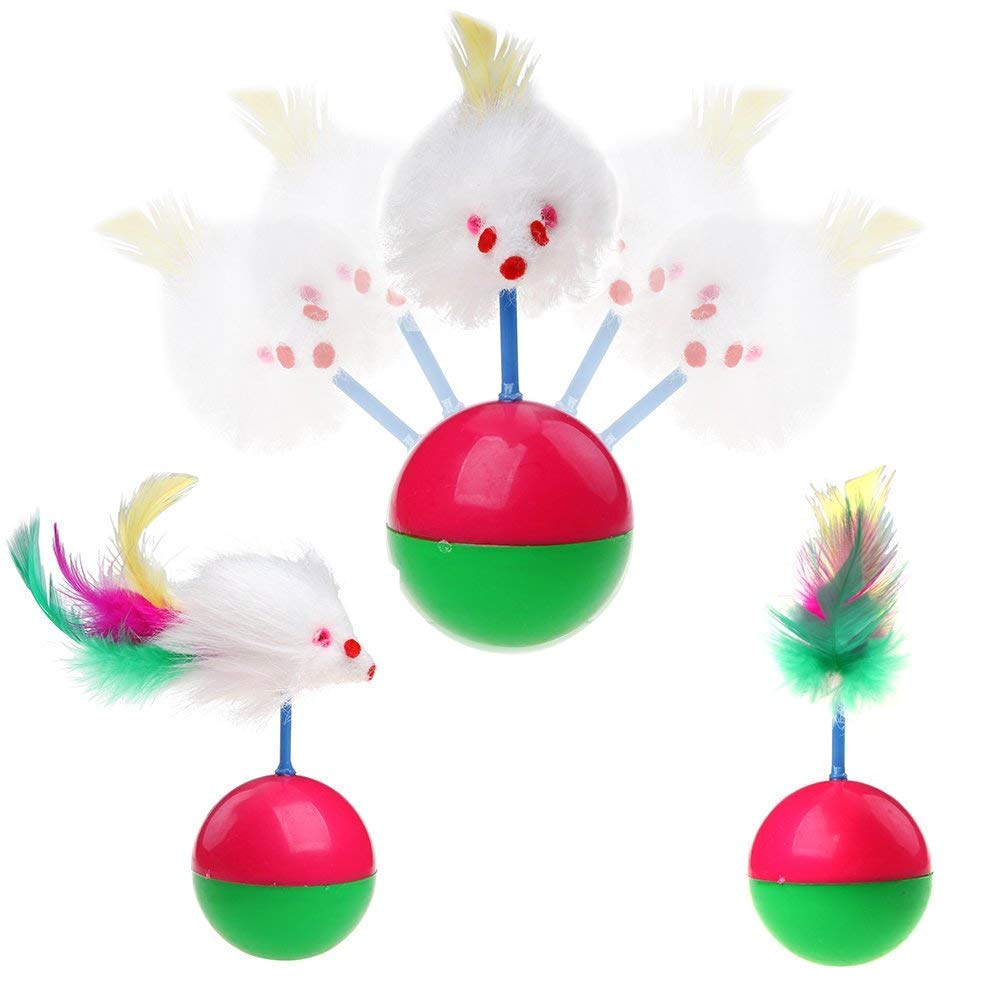 Feather Teaser Wand /Set di 2/WAY tunnel bell Crinkle palle in sisal mouse HOMIMP 20/confezioni Cat InterActive Toys/ Catnip Toy
