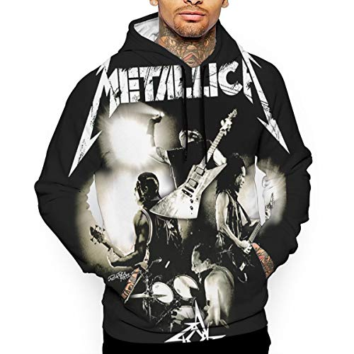 Lixue Metallica Band Thrash Metal Guitar Men Graphic Hoodie Novelty Pullover Hooded Sweatshirt with Pockets ()