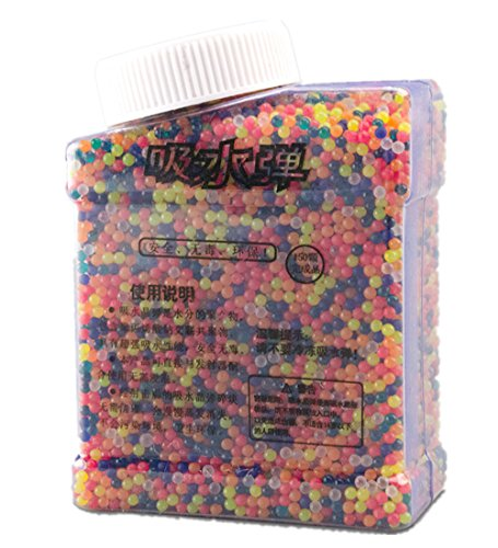 S'beauty Crystal Water Bead Bullet For Water Gun Pistol Toy 15000Pcs Multicolor - Crystal Bullet
