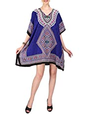 Miss Lavish London Women Kaftan Tunic Kimono Style Plus Size Dress for Loungewear Holidays Nightwear & Everyday Cover Up Tops #123-M-L