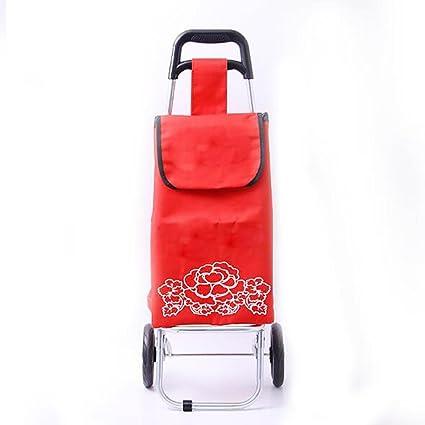 Portátil Tipo plegable carrito de compras Personas mayores para comprar comida Carro de mano del hogar