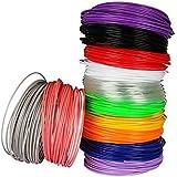 Lapond 12 Colori ogni colore 6M 1.75mm ABS Stampa 3D Filamenti Per Penna Stampa 3D con Disegno 3D (6M 12Colori)